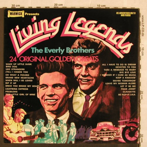 Everly Brothers: Living Legends, Warwick(WW 5027), UK, 1972 - LP - X101 - 5,00 Euro