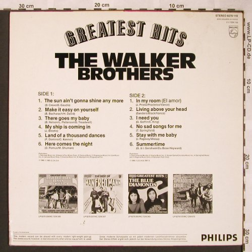 Walker Brothers: Greatest Hits, Philips Succes(9279 119), NL,  - LP - X1662 - 5,00 Euro