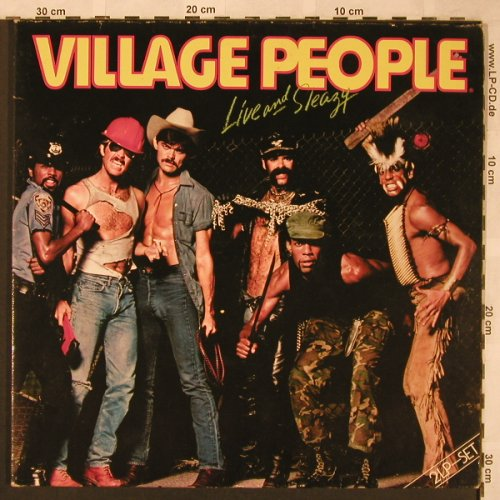 Village People: Live and Sleazy, Foc, vg+/m-, Metronome(0080.040), D, 1979 - 2LP - X1945 - 5,00 Euro