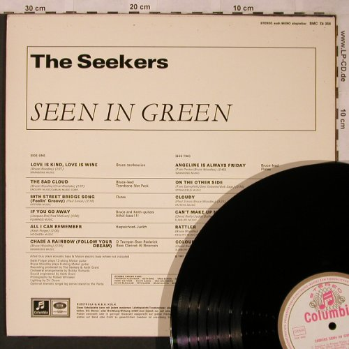 Seekers: Seen In Green, Columbia(SMC 74 359), D, 1967 - LP - X1978 - 15,00 Euro