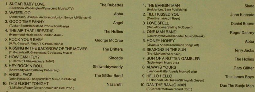 V.A.Music Power: Rubettes...Dan The Banjo Man, K-tel(TG 2891113), D, 1974 - LP - X2051 - 4,00 Euro