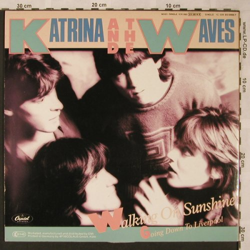 Katrina & The Waves: Walking On Sunshine(Ext.Mix)*2+1, Capitol(006 20 0565 7), D, 1985 - 12inch - X2072 - 4,00 Euro