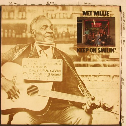 Wet Willie: Keep on Smilin', vg+/m-, Capricorn(CP 0128), US, 1974 - LP - X211 - 9,00 Euro