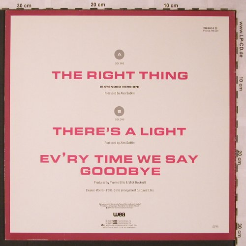 Simply Red: The Right Thing+2 (brown), WEA(248 460-0), D, 1987 - 12inch - X2231 - 4,00 Euro