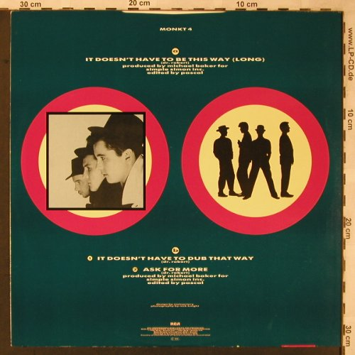 Blow Monkeys: It Doesn't Have To Be T.Way*2+1,lg, RCA(MONKT 4), UK, 1986 - 12inch - X2267 - 3,00 Euro