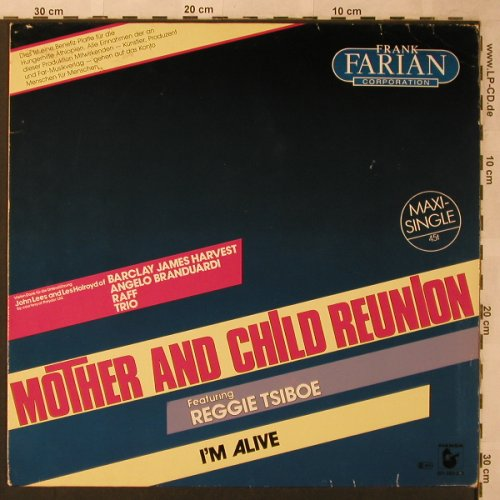 Farian Corporation,Frank: Mother And Child Reunion/I'm Alive, Hansa(601 583-213), D, 1985 - 12inch - X2658 - 5,00 Euro