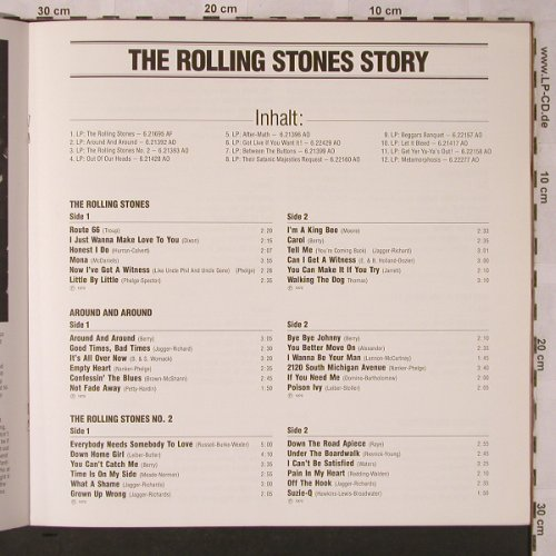 Rolling Stones: Booklet-8 Jahre R.S.63-70/ Story, Teldec(6.30118-00-501), D,8 Seiten,  - Book - X2690 - 4,00 Euro