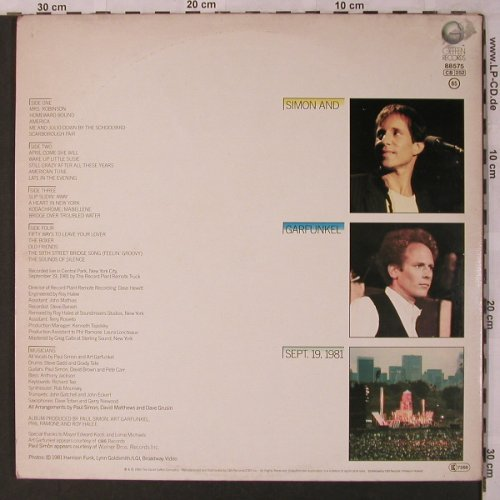 Simon & Garfunkel: The Concert in Central Park, Foc, Geffen(GEF 88 575), NL, 1982 - 2LP - X2800 - 7,50 Euro