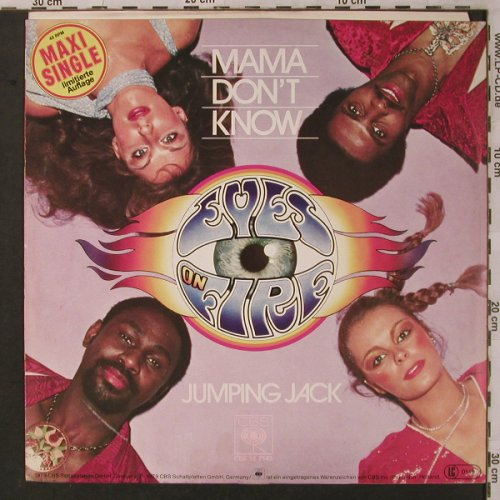 Eyes on Fire: Mama don't know/Jumping Jack, CBS, Lim.Ed.(CBS 12 7143), NL, 1979 - 12inch - X2998 - 4,00 Euro