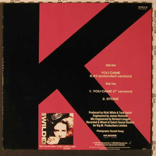 Wilde,Kim: You Came(Shep Pettibone Mix/Ext.), WEA(257 881-0), D, 1988 - 12inch - X3025 - 3,00 Euro
