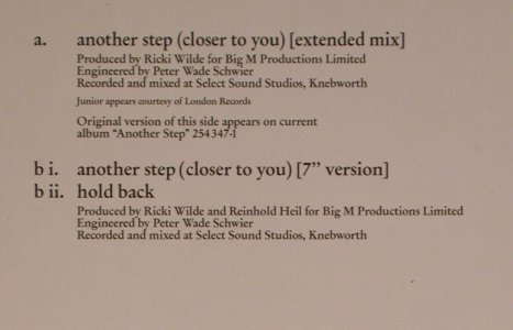 Wilde,Kim & Junior: Another Step(closer to you)*2+1, MCA(258 397-0), D, 1987 - 12inch - X3028 - 3,00 Euro