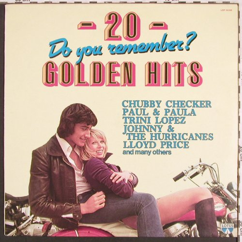 V.A.20 Golden Hits-Do you Remenber: Trini Lopez...Nino Tempo&April St., Lotus(LOP 14.049), I,  - LP - X3136 - 4,00 Euro