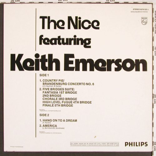 Nice: featuring Keith Emerson, Philips (Success)(9279 525), NL, Ri,  - LP - X3313 - 6,50 Euro