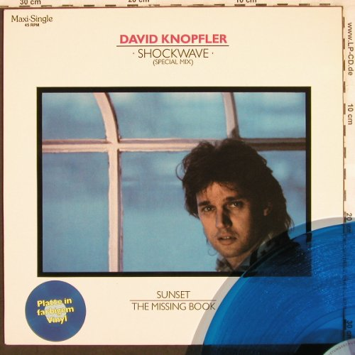 Knopfler,David: Shockwave special mix,Blue Vinyl, Intercord(INT 125.231), D, 1985 - 12inch - X3356 - 4,00 Euro