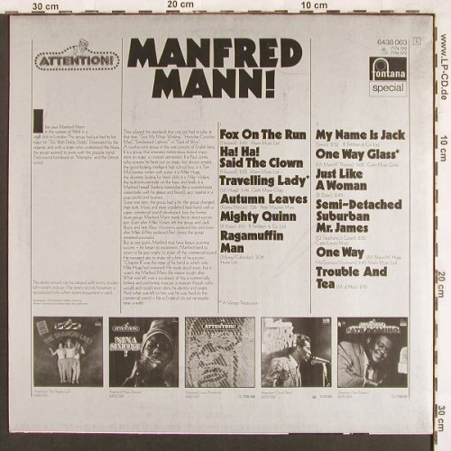 Mann,Manfred: Attention! Serie-Same, Fontana(6438 063), D, Ri,  - LP - X3443 - 6,00 Euro