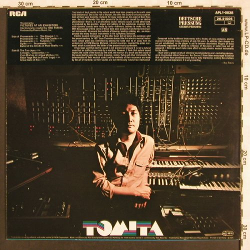 Tomita: Pictures Of An Exhibition, RCA(26.21506), D, 1975 - LP - X3448 - 6,00 Euro