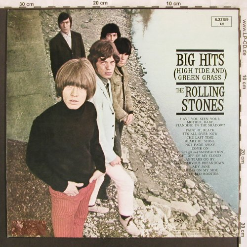 Rolling Stones: Big Hits(High Tide And Green Grass), Nova(6.22159 AO), D Ri, 1966 - LP - X3793 - 9,00 Euro