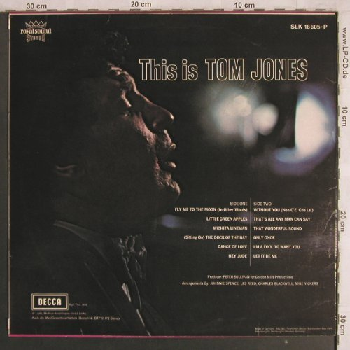 Jones,Tom: This is, m-/vg+, Decca(SLK 16 605-P), D,  - LP - X4088 - 7,50 Euro