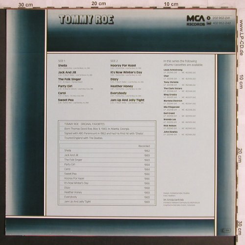 Roe,Tommy: Original Favorites, MCA(202 952-241), D,  - LP - X4095 - 5,00 Euro