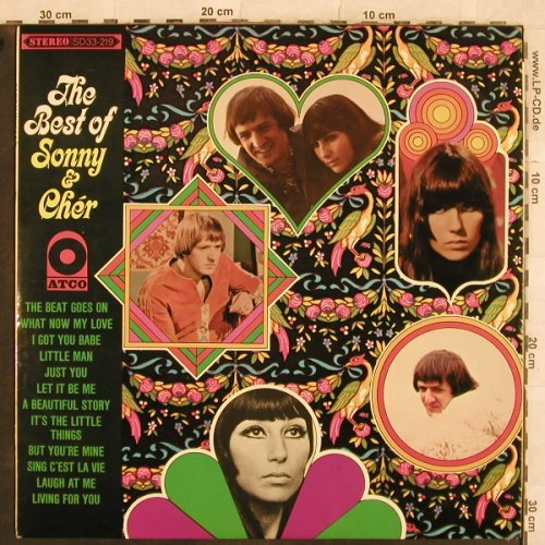 Sonny & Cher: The Best of,vg+/m-,plays well, Atco(SD 33-219), US, Mono, 1967 - LP - X426 - 7,50 Euro