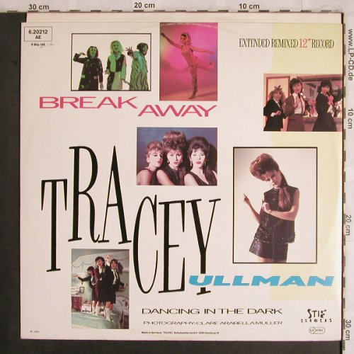 Ullman,Tracy: Break Away / Dancing in the Dark, Stiff(6.20212 AE), D, 1983 - 12inch - X4446 - 4,00 Euro