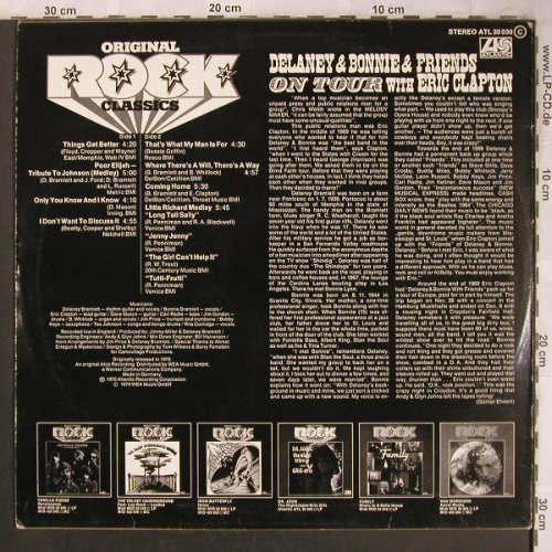 Delaney & Bonnie & Friends: On Tour With E.Clapton, Ri,1970, Atlantic(ATL 30 030), D, 1974 - LP - X4601 - 7,50 Euro