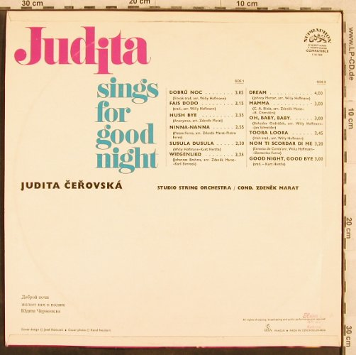 Judita: sings for good night, Supraphon(1 16 1035), CZ,  - LP - X467 - 6,00 Euro