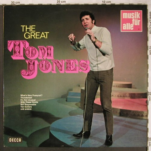 Jones,Tom: The Great, Decca Musik für Alle(ND 263), D,Ri, 1969 - LP - X4748 - 6,00 Euro