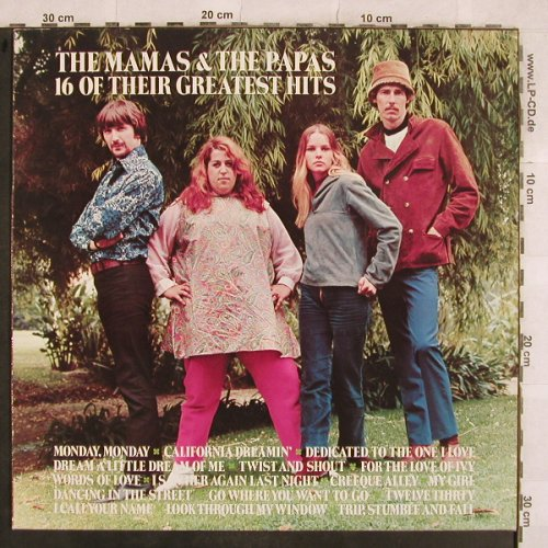 Mamas & Papas: 16 Of Their Greatest Hits, MCA(250 444-1), D, Ri,  - LP - X479 - 5,00 Euro