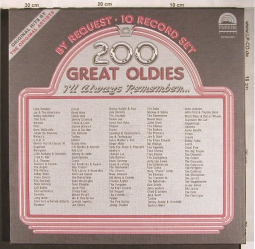 V.A.200 Great Oldies: By Request Vol.1 - Box, Flash Back/Studio One(ST10X1001), ,  - 10LP - X4900 - 15,00 Euro