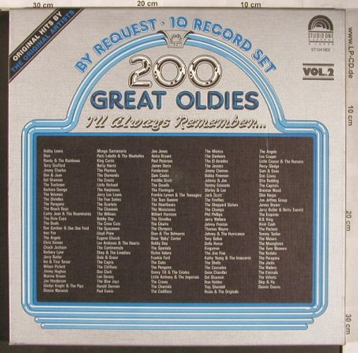 V.A.200 Great Oldies: By Request Vol.2 - Box, Flash Back/Studio One(ST10X1002), ,  - 10LP - X4901 - 15,00 Euro