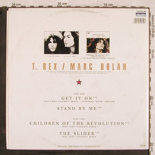 T.Rex-Marc Bolan: Get It On(Visconti rmx 87)+3, Teldec(6.20790 AE), D, 1987 - 12inch - X502 - 4,00 Euro