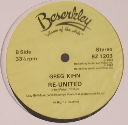 Kihn Band,Greg: Jeopardy (fun mix)/Re-United, LC, Beserkley(BZ 1203), US, 1984 - 12inch - X5281 - 3,00 Euro