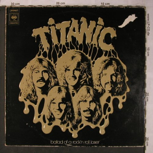 Titanic: Ballad Of A Rock'n Roll Looser, CBS(80786), NL, m /VG-, 1975 - LP - X5647 - 7,50 Euro