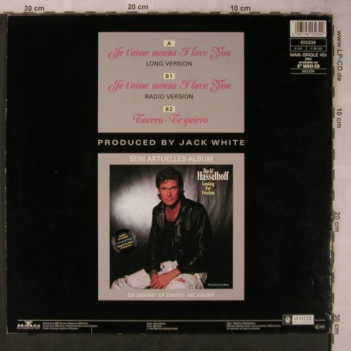 Hasselhoff,David: Je T'aime means I love you*2+1, White Records(613 234), D, 1990 - 12inch - X5678 - 15,00 Euro