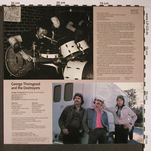 Thorogood,George & Destroyers: Same, rec.1978, m-/vg+, Sonet(INT 147.101), D, Ri, 1980 - LP - X5782 - 5,50 Euro
