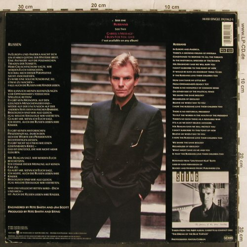 Sting: Russians+2, AM(392 062-1), D, 1985 - 12inch - X65 - 3,00 Euro