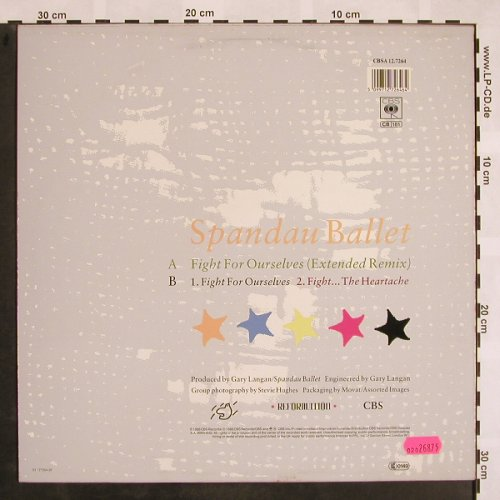 Spandau Ballet: Fight*2 / For Ourselves, CBS(12.7264), NL, 1986 - 12inch - X831 - 3,00 Euro