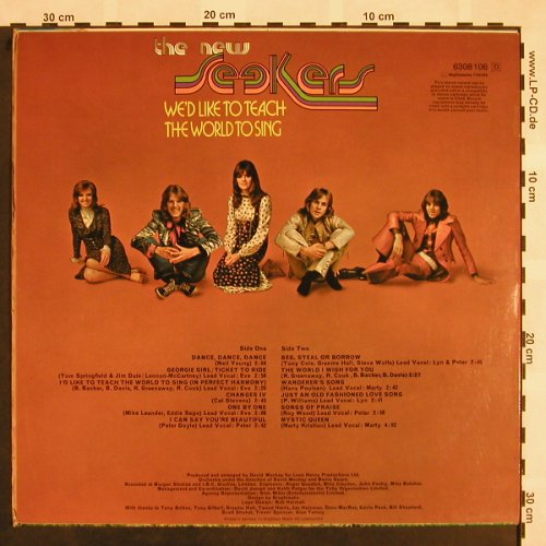 New Seekers,The: We'd Like To Teach The World t.Sing, Philips(6308 106), D, 1972 - LP - X865 - 5,50 Euro