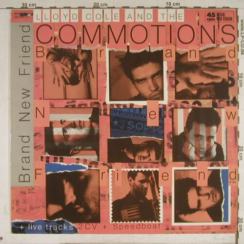 Cole,Lloyd & Commotions: Br.New Friend(lg)/2CV/+2, Polydor(883 352-1), D, 1985 - 12inch - A7979 - 4,00 Euro