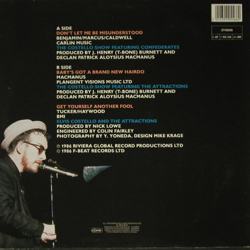 Costello,Elvis: Don't Let Me Be Misunderstood+2, F-Beat(ZT 40556), D, 1986 - 12inch - C8612 - 4,00 Euro