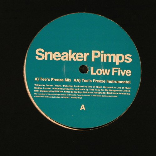 Sneaker Pimps: Low Five(Tee'sFreeze Mix),Flc,Promo, Clean Up(), UK, 1999 - 12inch - E2131 - 3,00 Euro