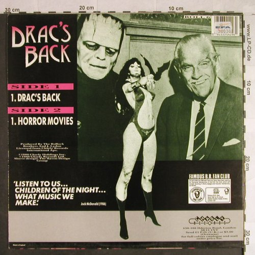Bollock Brothers: Drac's Back / Horror Movies, Charly(BOLL 6), UK, 1986 - 12inch - H1365 - 3,00 Euro