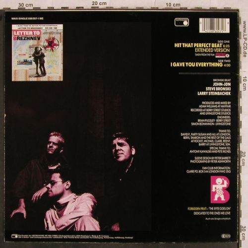 Bronski Beat: Hit That Perfect Beat,6:25ext+1, Metronome(886 007-1 ME), D, 1985 - 12inch - H9667 - 3,00 Euro
