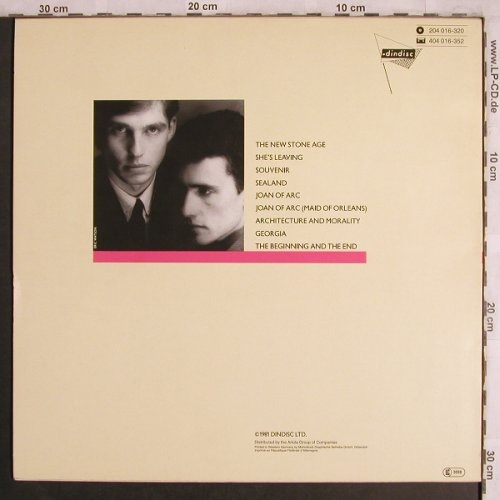 OMD: Architecture & Morality, Dindisc(204 016-320), D, 1981 - LP - X4302 - 6,00 Euro