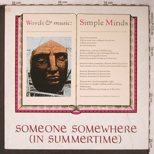 Simple Minds: Someone Somewhere(in Summert.+2, Virgin(VS 538-12), UK, woc, 1982 - 12inch - X5233 - 4,00 Euro