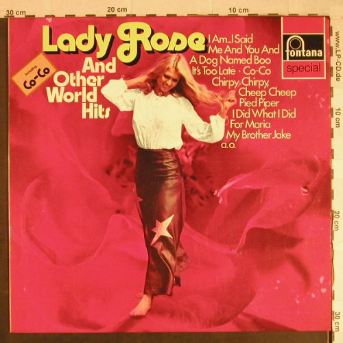 V.A.Lady Rose and other World Hits: Madoc Jeffery...Lionel Morgan, Fontana(6434 081), D,  - LP - H970 - 4,00 Euro