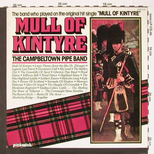 Campbeltown Pipe Band: Mull Of Kintyre, Pickwick(SHM 3039), UK, 80 - LP - A6893 - 5,00 Euro
