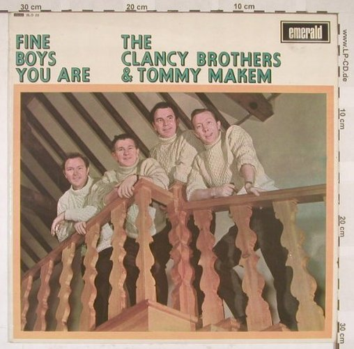 Clancy Brothers & Tommy Makem: Fine Boys You Are, Emerald(SLD 25), UK, 67 - LP - B5473 - 9,00 Euro