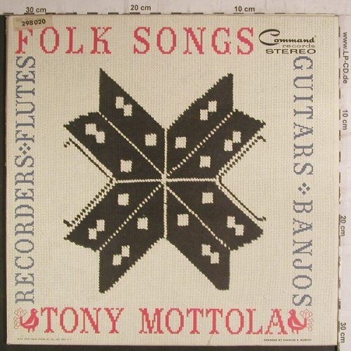 Mottola,Tony: Folk Songs, Command(298 020), US, 1961 - LP - F6814 - 9,00 Euro